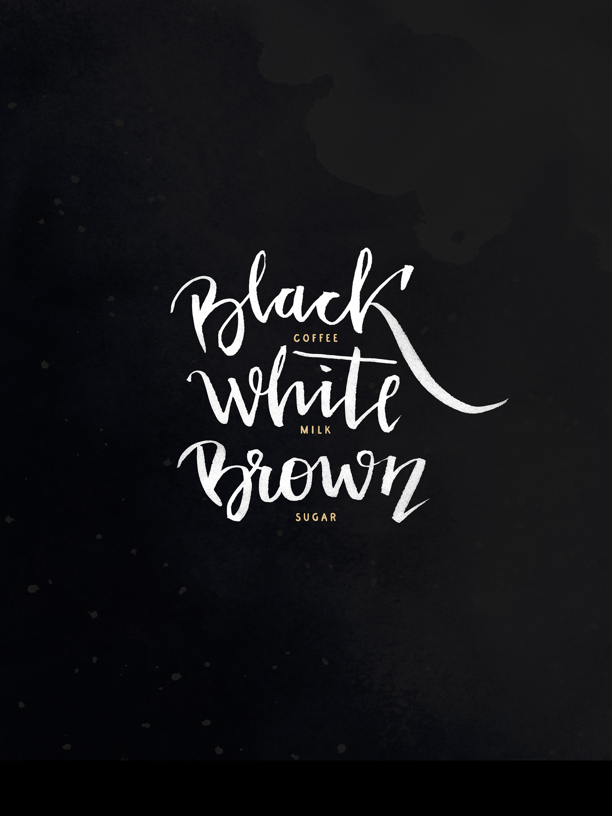 black-white-brown flandepan lettering